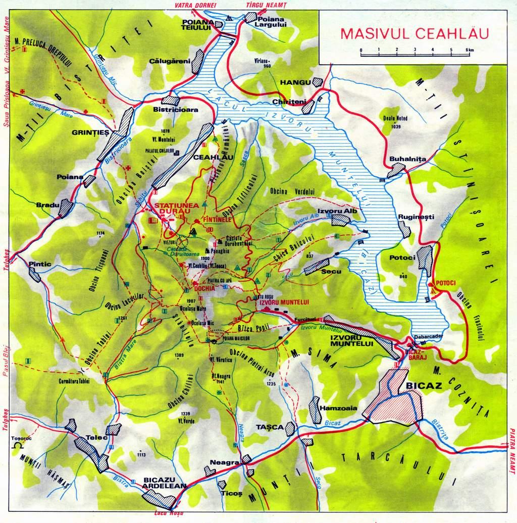 Harta Turistica Muntii Carpati Ghid Turistic Romania