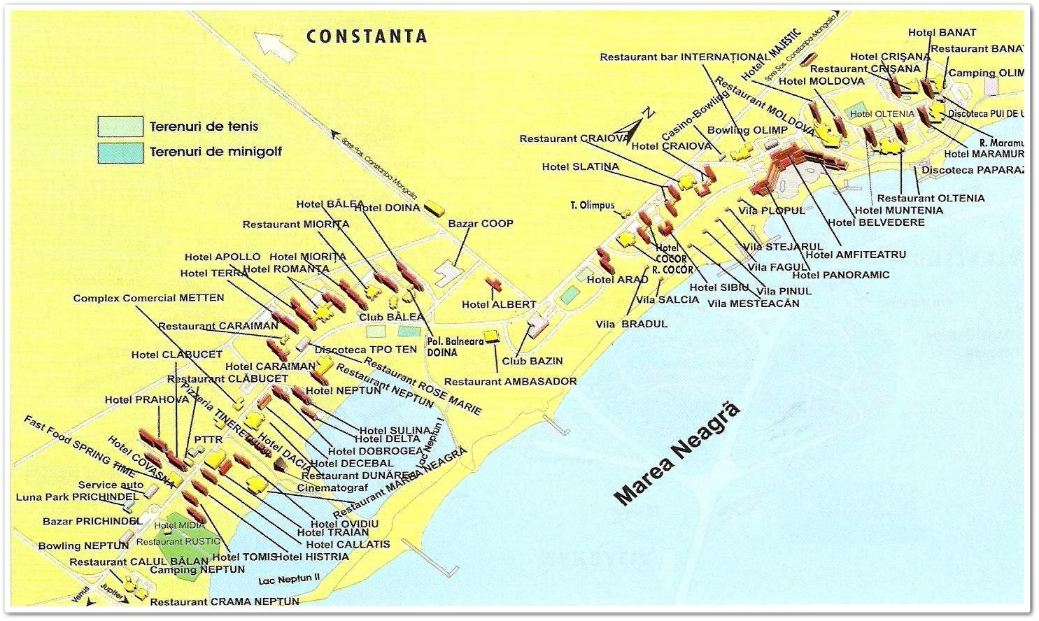 Harta Statiuni Litoral Ghid Turistic Romania