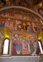 Pictura interioara Manastirea Putna